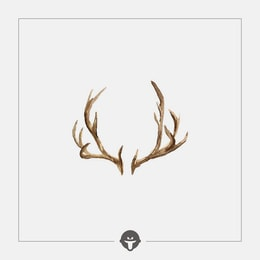 @BECOME Original Tattoo Stickers Antlers Three Piece