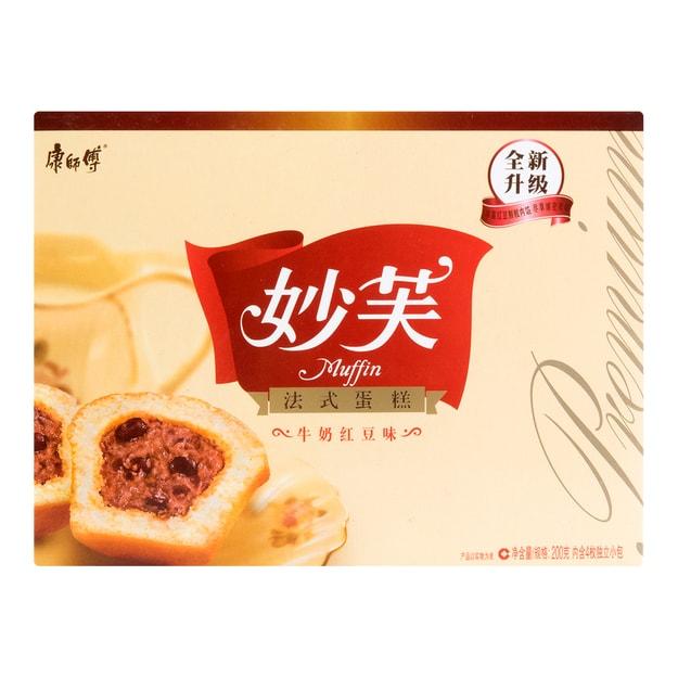 商品详情 - 康师傅 妙芙 法式蛋糕 牛奶红豆味 4枚入 200g - image  0