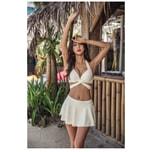 HOLA SWIM Strap High Waist Skirt Bikini (Size M-L)