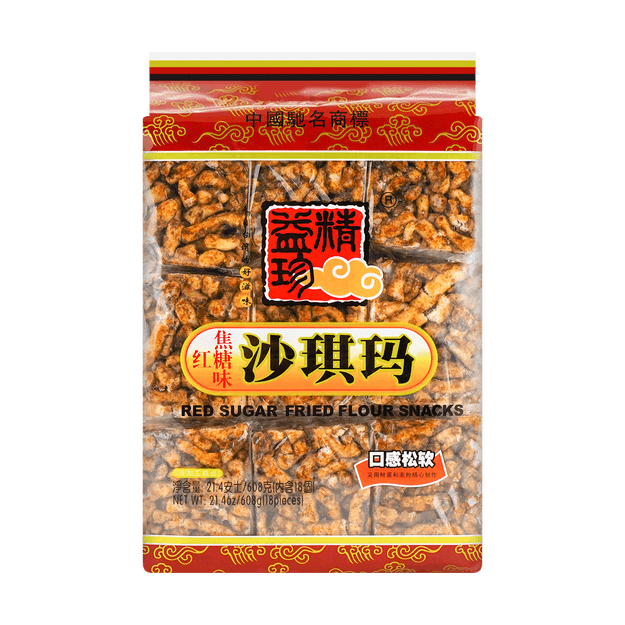 Product Detail - JYZ Red Sugar Fried Flour Snacks 608g - image  0