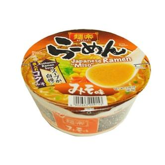 日本MENRAKU面乐 速食拉面 香浓味噌汤口味 碗装 90.9g