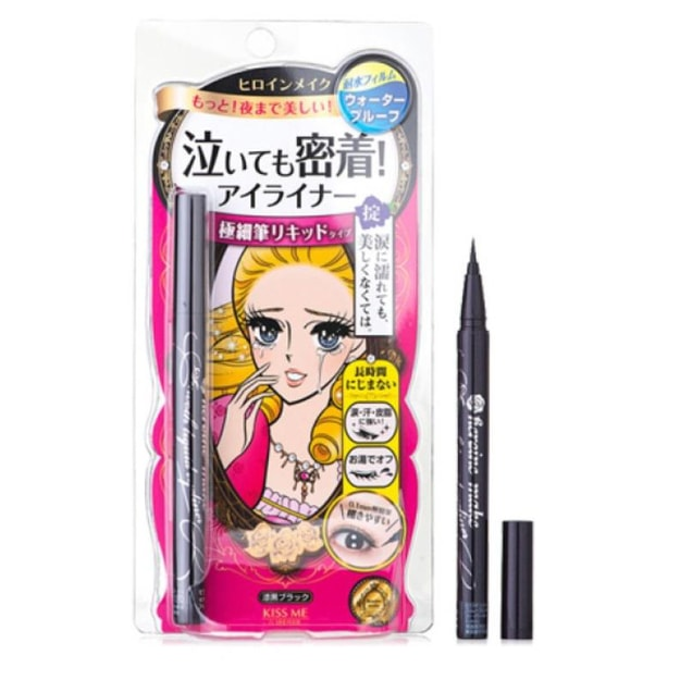 Product Detail - ISEHAN KISS ME Heroine Make Smooth Liquid Eyeliner N #Black 0.4ml - image 0