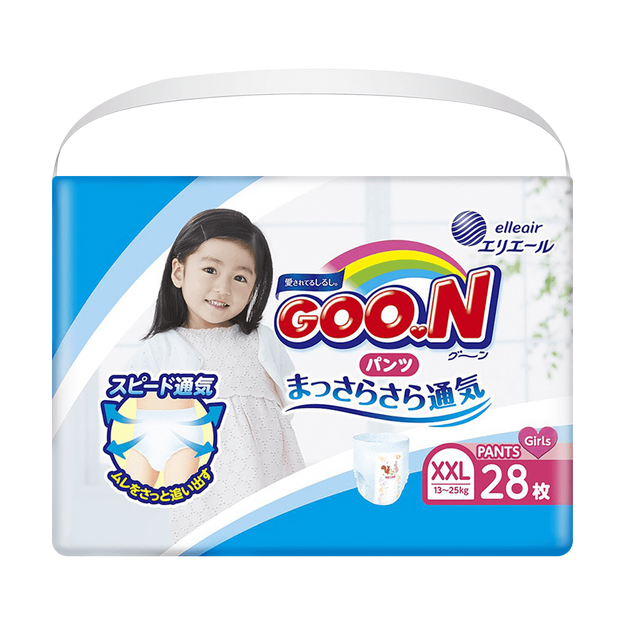 Product Detail - GOO.N Baby Diaper Pants for Girl Type XXL Size 13-25kg (28-55lb) 28Pcs - image 0