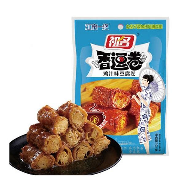 商品详情 - 祖名 江南一绝 香逗卷 鸡汁味豆腐卷 100g - image  0