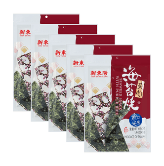 HSIN TUNG YANG Seaweed Snack with Purple Rice 40g * 5 Bags