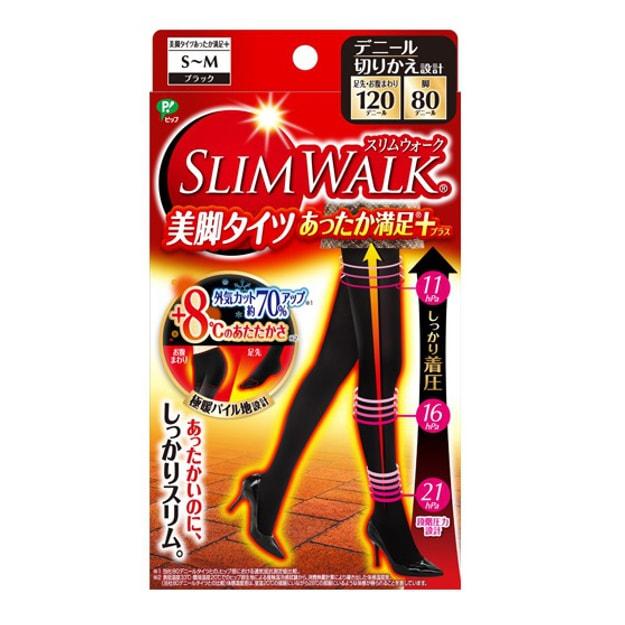 商品详情 - 日本SLIM WALK蓓福丝翎 发热提臀瘦腿裤袜 #S-M Size 1pcs - image  0
