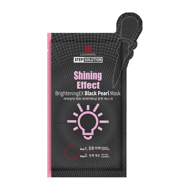 Product Detail - LEADERS BrighteningEX- Black Pearl Shining Effect Mask 1 Sheet - image 0