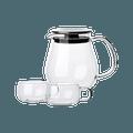 网易严选水滴壶  日式个人壶 3件装 大号壶 720ml*1+茶杯 130ml*2
