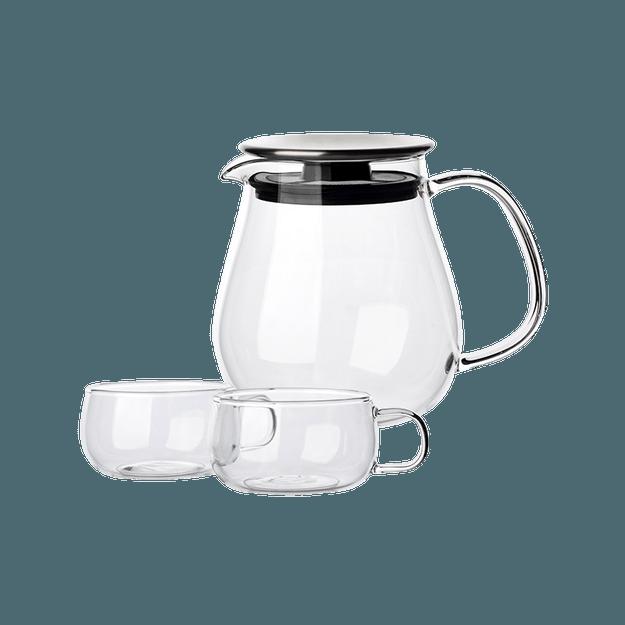 商品详情 - 网易严选水滴壶  日式个人壶 3件装 大号壶 720ml*1+茶杯 130ml*2 - image  0