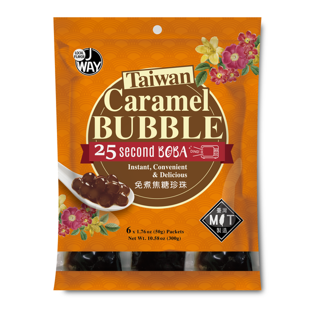 Product Detail - 【Buy 2 Get 1 Free】JWAY Caramel Instant Boba MIcrowaveable 6 Bags*50g - image 0