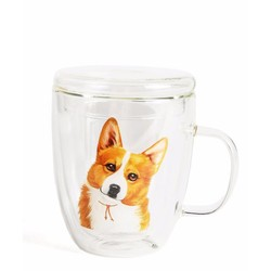 NAYOTHECORGI Double Glass Corgi Mug #500ml#