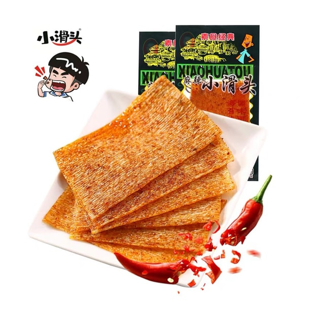 Product Detail - XIAOHUATOU Spicy Gluten Thin Spicy Slices Spicy Strips 20g / bag - image 0