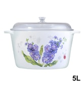 LUMINARC Vitroline Elysian Violet Covered Casserole with Glass Lid 5L 25cm