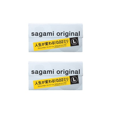 [Combo] Adult toy SAGAMI 002 Original Condom Large 10 pieces x 2