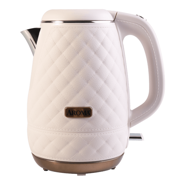 AROMA Double Wall 316 Premium Grade Stainless Steel Electric Water Kettle Pink 1.2L AWK-3000P