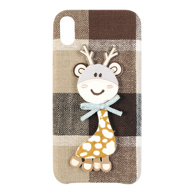 Fabric Cartoon 3D Giraffe iPhone Case Protector For Xs Max 2018 6.5 inch
