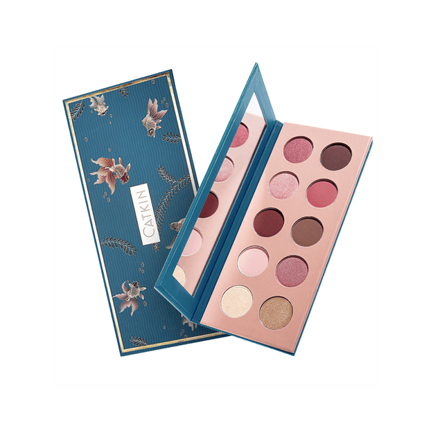 Product Detail - Chinese style Forbidden City style daily makeup ten colors eye shadow dish autumn water also feeling C02 fish hippy (blue)* - image 0