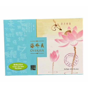海外天 绿茶红豆沙 雪花冰皮月饼 15.87 oz