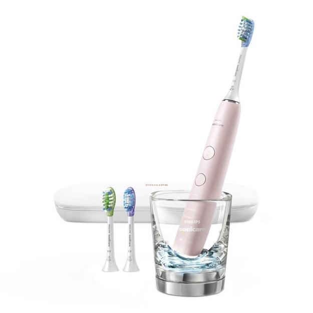 PHILIPS Sonicare Diamond Clean Smart Rechargeable Toothbrush with Deep Clean Mode Pink Edition 9300 Series HX9903/21