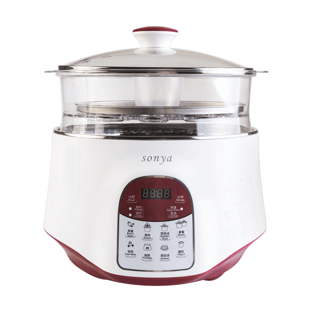 Product Detail - 【Pre-order-Ship in 5~15 Days】SONYA Multi Function 3 in 1 Ceramic Smart Electric Slow Stew Pot 2.2L With Steam Tray - image 0