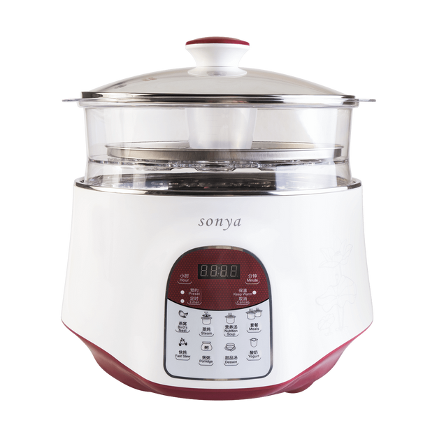 Product Detail - 【Pre-order-Ship in 2~5 Days】SONYA Multi Function 3 in 1 Ceramic Smart Electric Slow Stew Pot 2.2L With Steam Tray - image 0