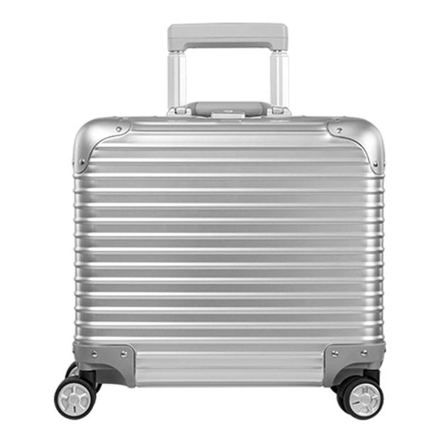 商品详情 - 苏宁极物 全铝镁合金金属万向轮拉杆箱 17寸 银色 - image  0