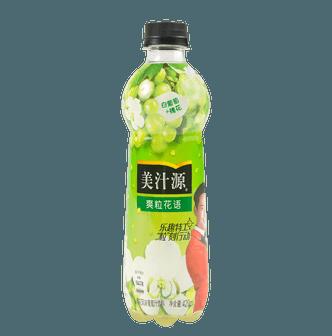 美汁源 爽粒花语 槐花风味葡萄汁饮料 420ml