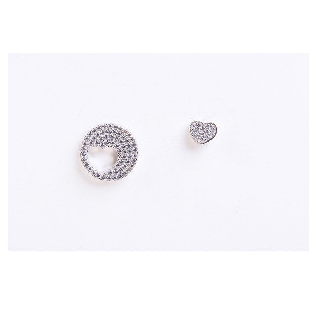 Product Detail - Ariel sterling Silver Heart in Circle Earrings - image 0