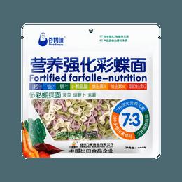谷妈咪 7:3 多彩蝴蝶面 180g 紫薯菠菜胡萝卜营养强化彩蝶面