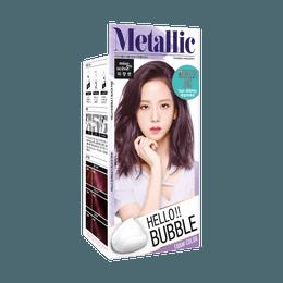 韩国MISE EN SCENE爱茉莉 美妆仙 HELLO BUBBLE泡沫染发剂 7MA金属银灰色 单组入