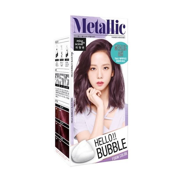 Product Detail - MISE EN SCENE Hello Bubble Hair Foam Color Metallic Ash - image 0