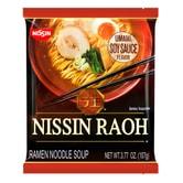 NISSIN RAOH Ramen Noodle Soup Soy Sauce Flavor 107g