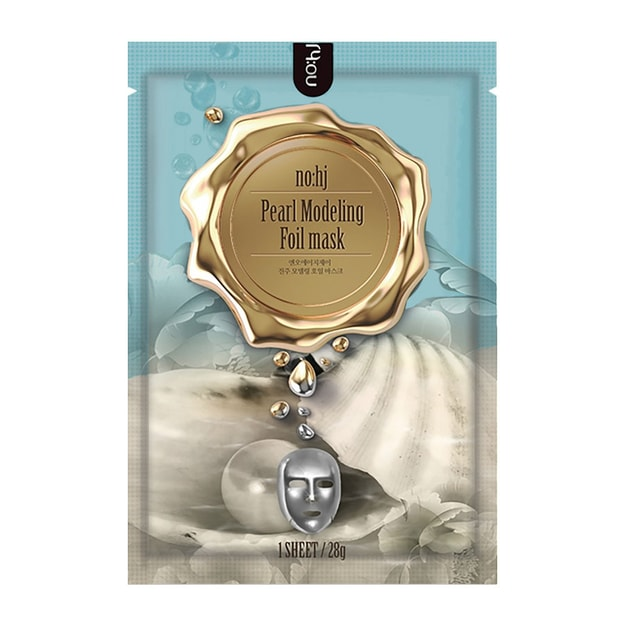 Product Detail - NO:HJ Pearl Modeling Foil Mask 1 Sheet - image 0