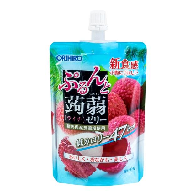 商品详情 - 日本ORIHIRO 低卡纤体蒟蒻果冻 荔枝味 130g - image  0