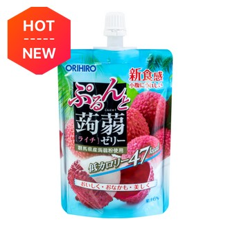 ORIHIRO Kommyaku Jelly Lychi Flavor 130g