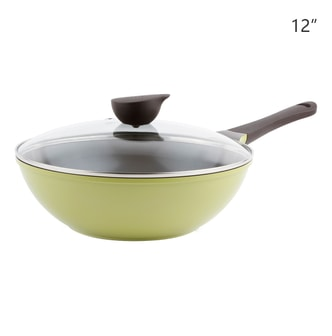 NEOFLAM Nonstick Ceramic Coating Wok Glass Lid Included 12
