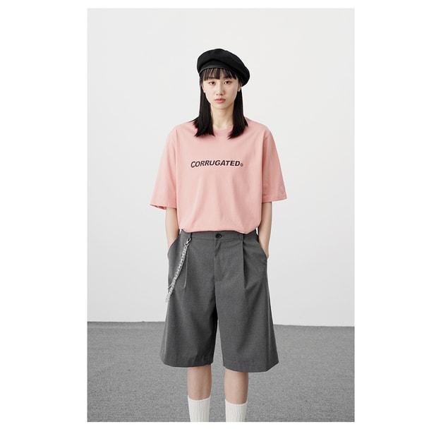商品详情 - PROD春季新款 Corrugated Graphics 纯棉短袖T恤 粉色 -M - image  0
