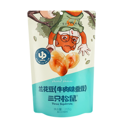 THREE SQUIRRELS Broad Beans Beef Flavor 205g