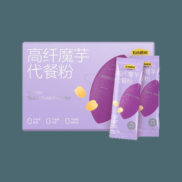 商品详情 - 五谷磨房 魔芋代餐粥 紫薯味 营养早餐 16包入 448g - image  0