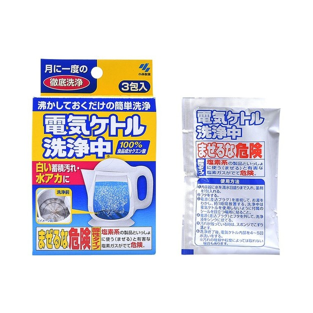 Product Detail - KOBAYASHI Cleaner For Electric Kettle With Citric Acid Cleaning - image 0