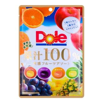 日本DOLE都乐 实感100%果汁糖 4种口味 68g
