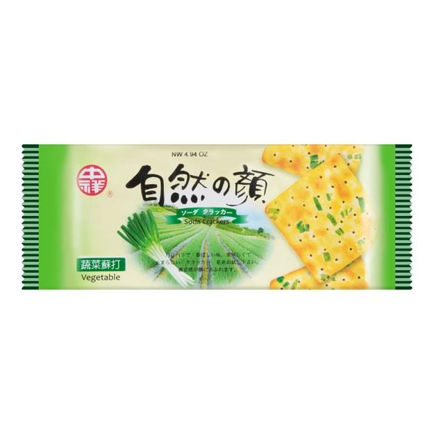 商品详情 - 台湾中祥 自然の颜 香葱苏打饼干 140g - image  0
