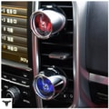 RAMBLE Air Freshener LED Car Diffuser Vent Clip Perfume Conditioning Outlet Engine Aromatherapy Fragrance Gray 1 pcs