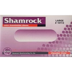 【医用手套】美国Shamrock 一次性医用天然乳胶手套 防疫防菌 大码 100枚入 不含粉末