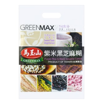 GREENMAX Purple Rice Black Sesame Cereal 14pc