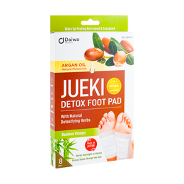 DAIWA Jueki Detox Foot Pad Argan Oil 8 Sheets