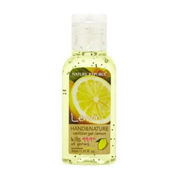 Nature Republic HAND & NATURE SANITIZER GEL 54.72% Alcohol 99.9% of excellent sanitizing effect  30ml LEMON