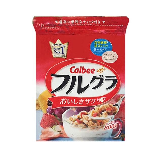 商品详情 - 【全网最低价】日本CALBEE卡乐比 即食水果谷物燕麦片 原味 800g 日本销量第一 - image  0