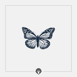 @BECOME Original Tattoo Stickers Butterfly Three Piece