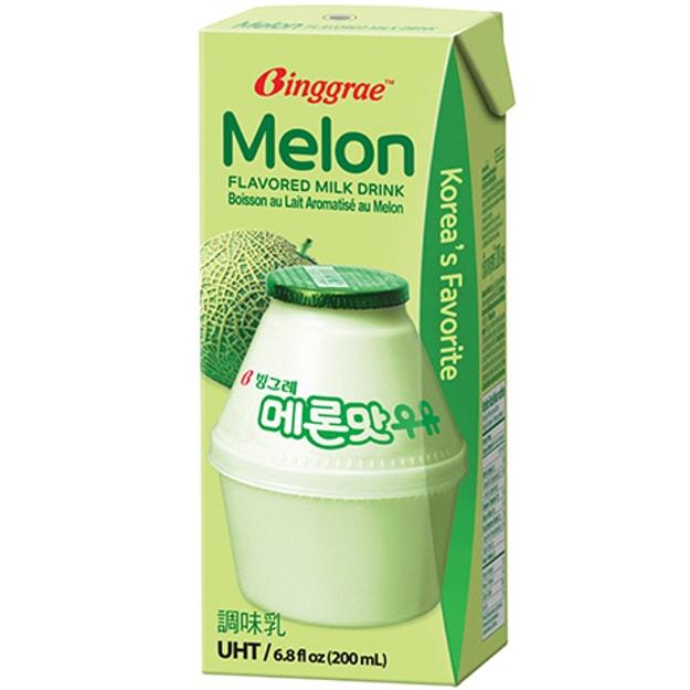 商品详情 - 韩国BINGGRAE 牛奶 哈密瓜味 6x200ml - image  0